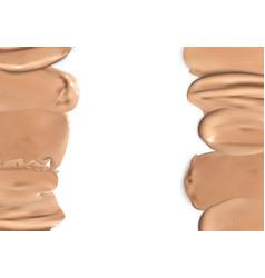 frame of makeup liquid foundation vector image