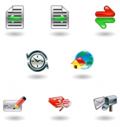 internet browser icons vector image vector image