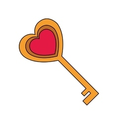 key in heart shape vector image vector image