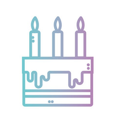 line delicious and sweet cake with candles vector image vector image