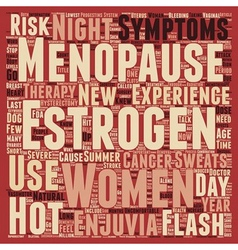 New estrogen therapy for menopause text background vector
