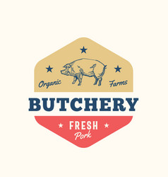 Organic farm butchery abstract sign symbol vector