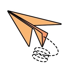 Paper plane origami modeling creative line dotted vector