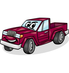 pickup car character cartoon vector image vector image