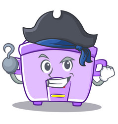 Pirate rice cooker character cartoon vector