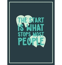 The start is what stops most people simple vector