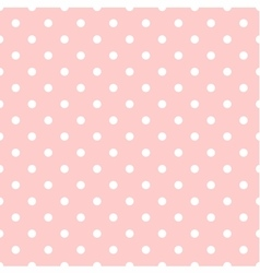 Tile pattern white polka dots on pink background vector