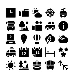 Travel icons 3 vector