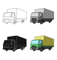truck with awningcar single icon in cartoon style vector image vector image
