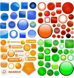 vector icon set vector image vector image