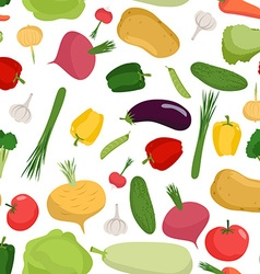 Vegetables pattern seamless Vegetable organic food vector image