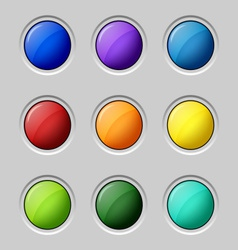 Web colored buttons round empty surface vector image vector image