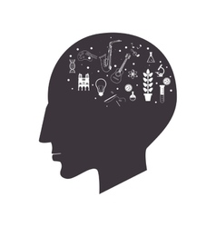 Head creativity icon vector