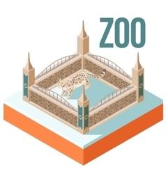Zoo Snow Leopard isometric icon vector image