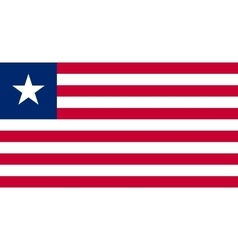 Flag of liberia in correct proportions and colors vector
