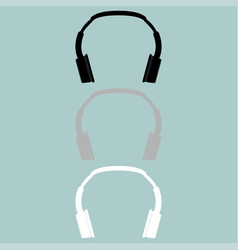 Headphones earphones double head receiver vector