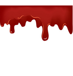 flowing blood on white background vector image