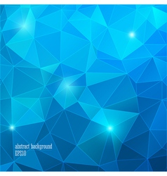 Geometric blue background with triangle vector
