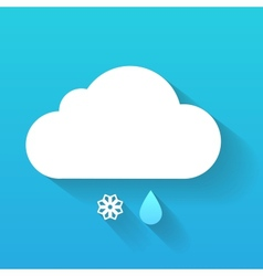 Day cloud snow flake and rain drop isolated on vector