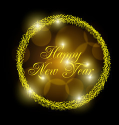 2018 new year shining banner vector image vector image