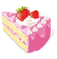 strawberry cake vector image