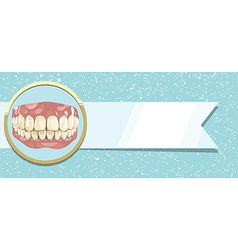 Teeth and ribbon vector image