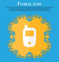 Mobile telecommunications technology symbol floral vector