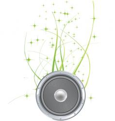 nature speaker vector image