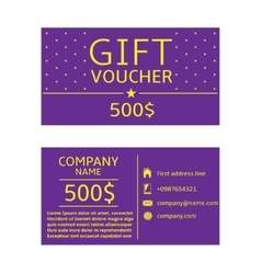 Gift voucher card vector