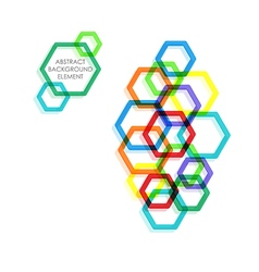 Hexagon background design element vector
