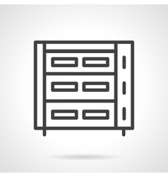 Abstract bakery appliance black line icon vector