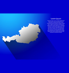 Abstract map of austria with long shadow vector