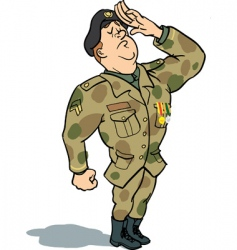 army soldier saluting vector image