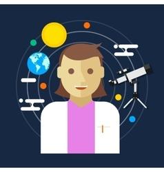 Astronomer space science women vector