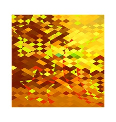 Autumnal forest abstract low polygon background vector