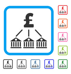 bank pound expenses framed icon vector image vector image