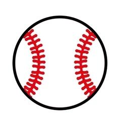 baseball ball equipment icon vector image