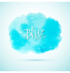 Blue watercolor splash design element vector image vector image