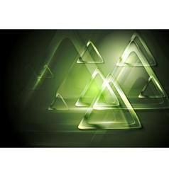 Bright blurred triangle Tech design vector image