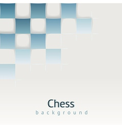 Chess background with drop shadows concept vector
