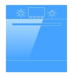 Electric oven icon vector