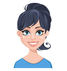 facial expression of a woman - smiling vector image vector image