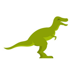 Green theropod dinosaur icon isolated vector