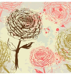 Grungy rose background vector image vector image