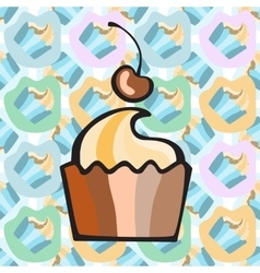 Ice cream cake or frozen yogurt seamless vector