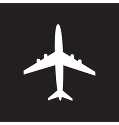 Icon of aircraft vector image vector image