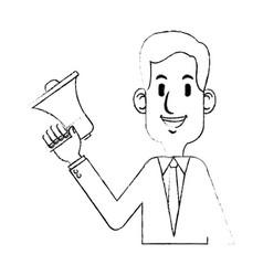 loudspeaker or megaphone icon image vector image