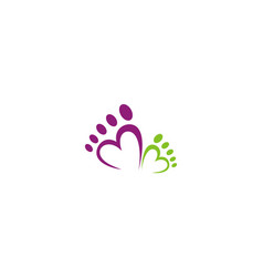 love foot abstract beauty logo vector image