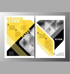 Minimal modern poster brochure flyer design layout vector