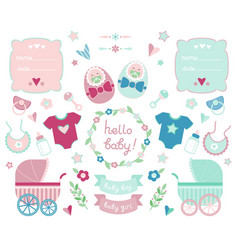 newborn collection vector image vector image